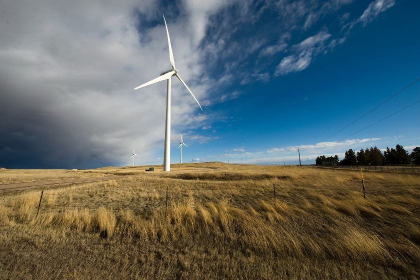 The biggest wind turbines F.E. Warren Air Force Base, Wyoming (U.S. Air Force photo/Lance Cheung)