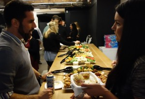 Food table at AMA Toronto networking event